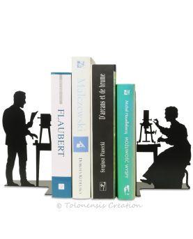 Horloge chat Mistigri en métal découpé laser. Diamètre 40 cm