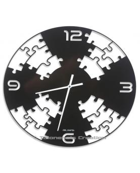 Modern wall clock Puzzle. Diameter 40 cm