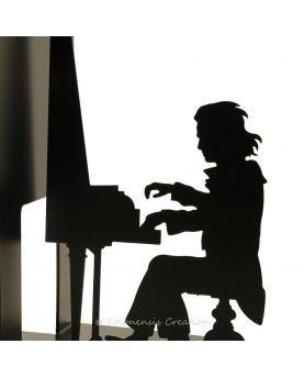 Modem wall clock Temporis. Height 40 cm