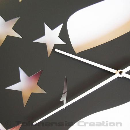 American wall clock Stars and Stripes. Height 40 cm