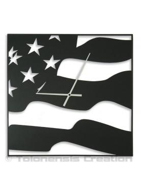 American clock Stars and Stripes. Height 40 cm