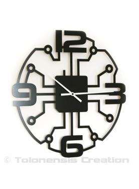 The stunning modern wall clock Robotic. Diameter 40 cm