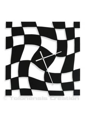 Design wall clock Twister. Height 40 cm