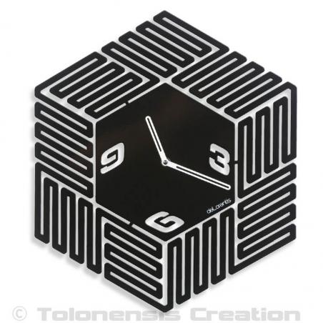 The stunning 3 dimensions Design wall clock Maze. Height 40 cm