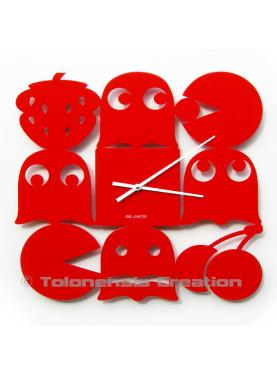 Pac-man Red Clock