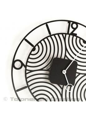Wall clock Art Deco close-up. Diameter 40 cm