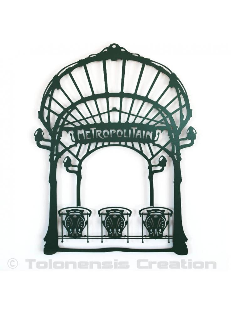 Wall decoration Art Nouveau Metropolitain. Height 86 cm