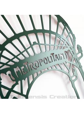 Wall decoration Art Nouveau Metropolitain close-up. Height 86 cm