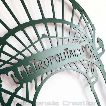 Close-up of the wall decoration Art Nouveau Metropolitain. Height 86 cm