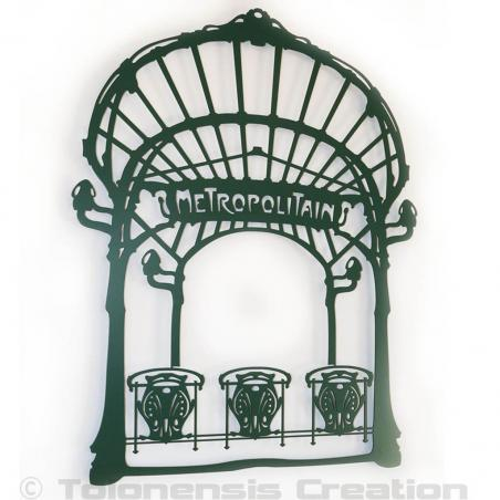 The wall ornament Art Nouveau style  Metropolitain. Height 86 cm