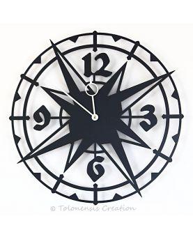 Guitar clock Gibson ES-335 wall decoration. Height 90 cm