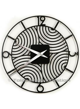 The giant wall clock Art Deco. Diameter 78 cm. Steel laser cut