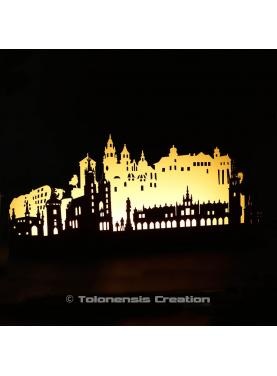 Ambient led lamp Cracow by night