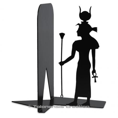 Metal bookend Isis on the theme of Aancient Egypt. Height 19 cm