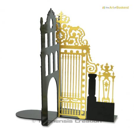 Bookend the Royal Gate Gold left of the Palace of Versailles model right. Colour black/gold. Height 19 cm