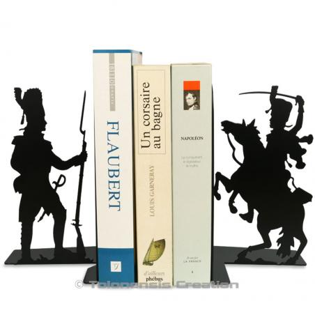 The set of bookends Grognard and Hussard