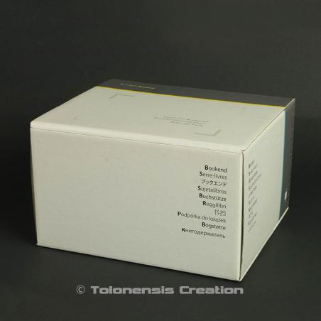 Printed box for the packaging of one bookend