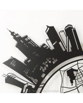 Serre-livres Château de Książ. Hauteur 19 cm. Création réalisée en acier découpé laser