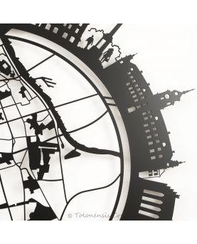 Serre-livres indien Sioux d'Amérique et Trappeur canadien. Hauteur 19 cm. Acier découpé laser