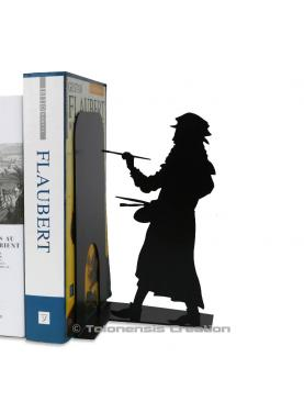Bookend Leonardo da Vinci.  Height 19 cm.Metal laser cut creation.