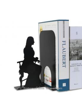 Bookend Mona Lisa. Height 19 cm.Metal laser cut creation.