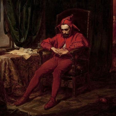 Stanczyk the fool painted by the polish painter Jan Matejko
