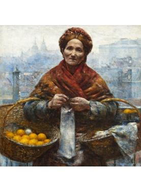 Jewess with oranges by Aleksander Gierymski