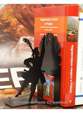 Bookend Polish Folk Krakowiak black. Height 19 cm