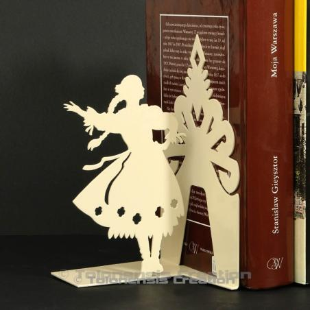 Bookend Polish Folk Górale female dancer. Height 19 cm