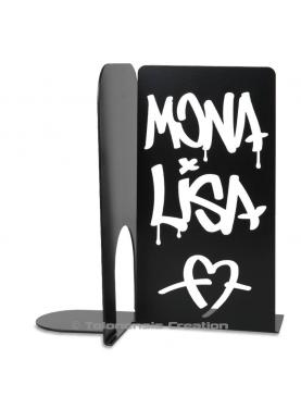Bookends Mona Lisa Graffiti style. Height 19 cm