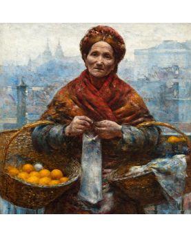 Horloge murale Art Nouveau de diamètre 40 cm