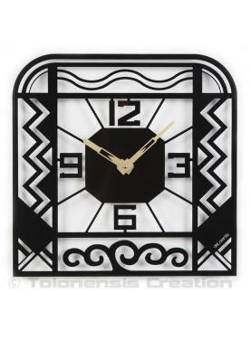 Wall clock Art Deco style Charleston. Height 40 cm. Steel laser cut