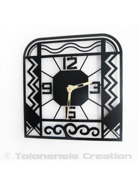 Wall clock Charleston. Art Deco stylized. Height 40 cm