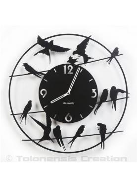 Bird clock Birdy. Diameter 40 cm