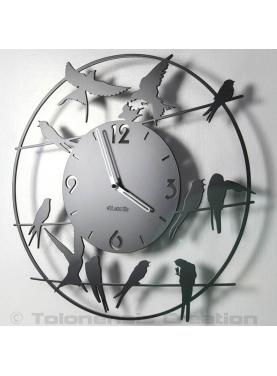 Wall clock Birds. Diameter 40 cm
