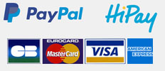 PayPal HiPay secure payment on delorentis.com